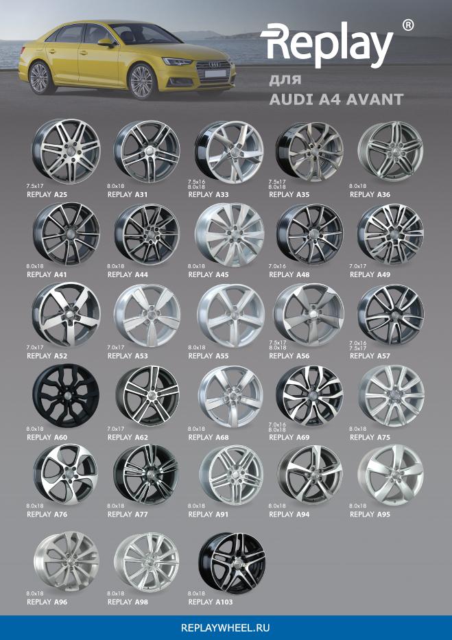 Новые диски для Audi A4 Avant