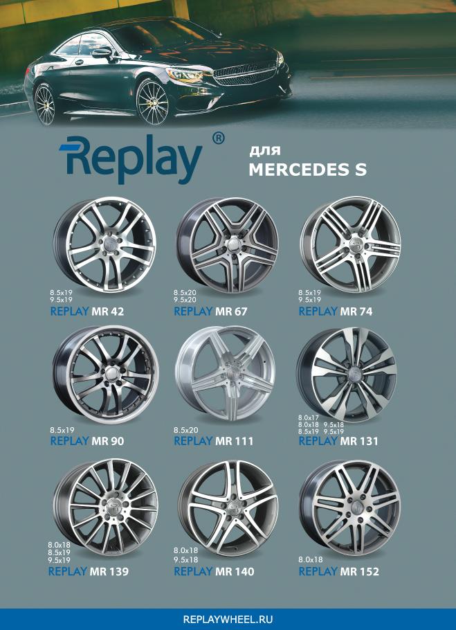 Новые диски для Mercedes S