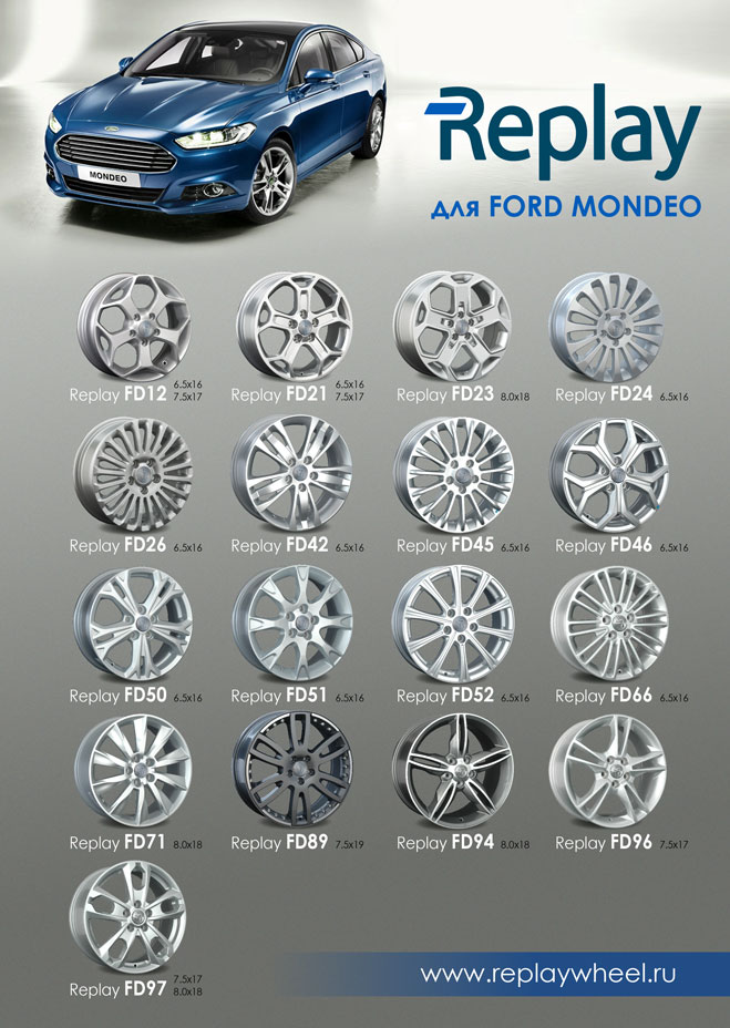 Новые диски для Ford Mondeo
